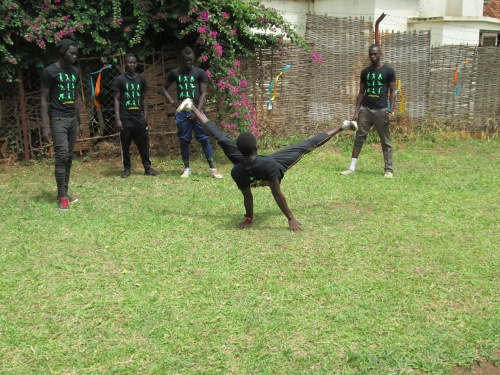 The Gulu breakdance squad.